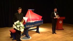 Ankara, Turcja, Sławomir Zubrzycki (viola organista) i Wojciech S. Wocław (konferansjer)